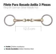 FILETE PARA BOCADO ANILLA 3 PIEZAS D79